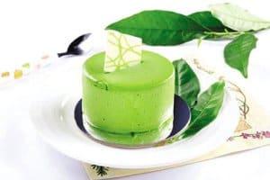 chế biến bánh flan trà xanh