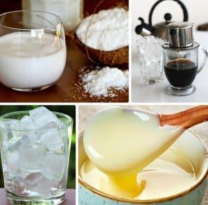 nguyên liệu cafe cốt dừa