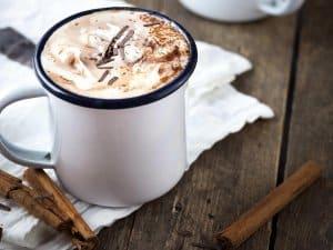trang trí ly cafe cốt dừa