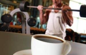 uống cafe trước khi gym