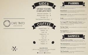 Mẫu menu cafe phong cách tối giãn
