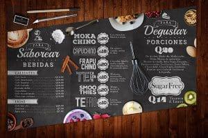 menu quán cafe phong cách quán