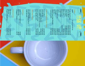 mẫu menu cafe theo chủ đề