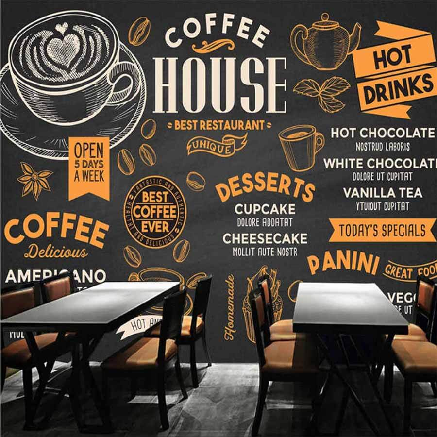 Menu quan cafe cổ điển