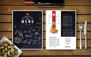 chọn mẫu menu quán cà phê