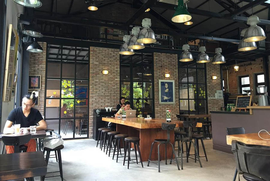 Mô hình quán cafe workshop