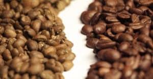 màu hạt cafe khi rang