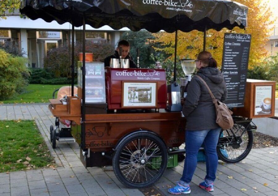 Mô hình xe cà phê mang đi