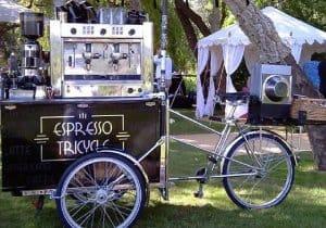 trang bị xe cà phê