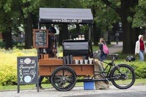 mô hình xe cà phê take away