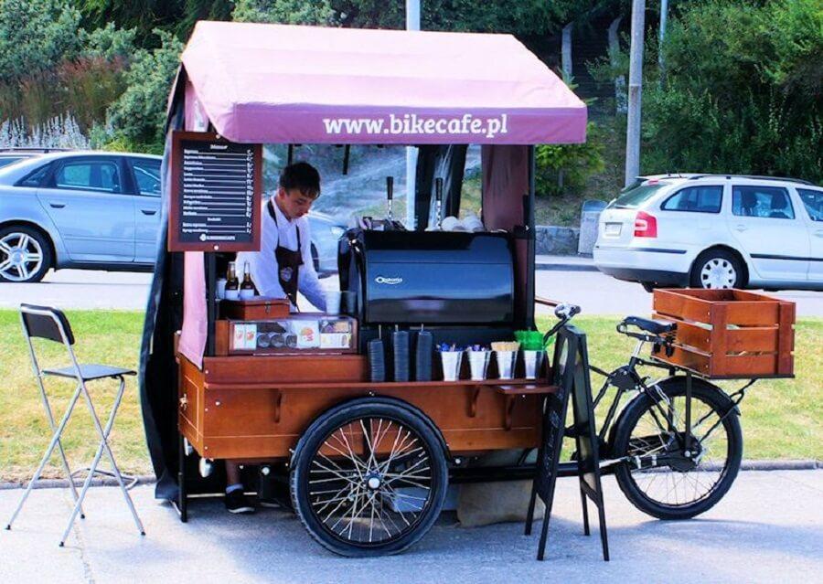 xe cà phê take away bike