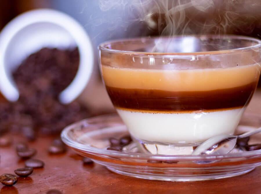cà phê bạc xỉu nóng