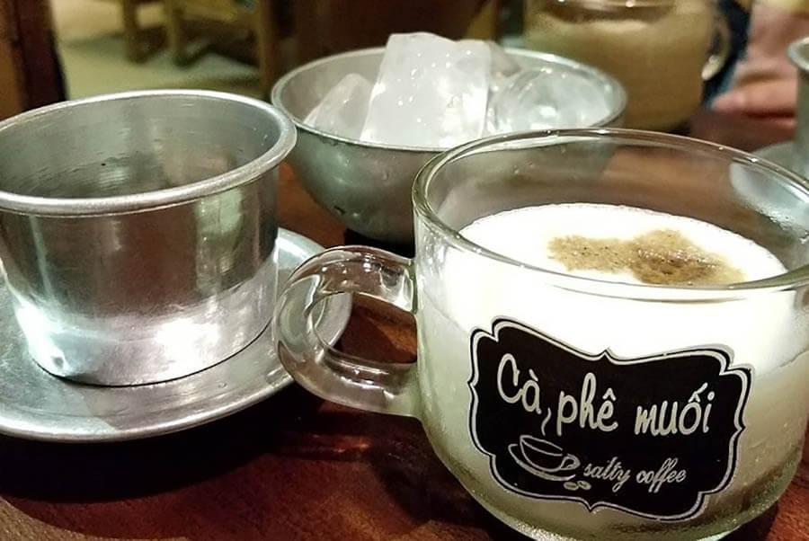 cách pha cafe muối