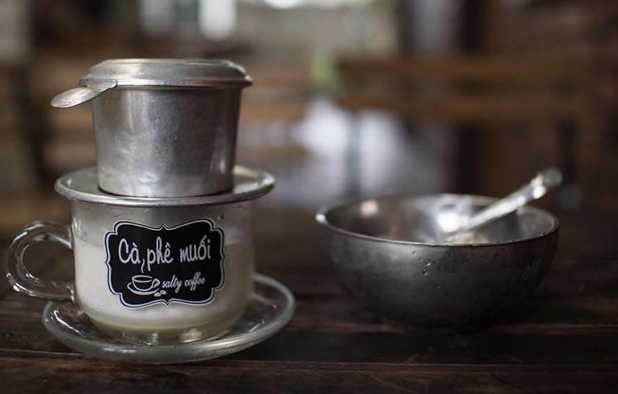 dụng cụ pha cafe muối