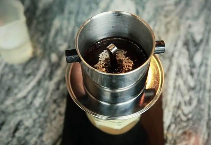pha cà phê muối
