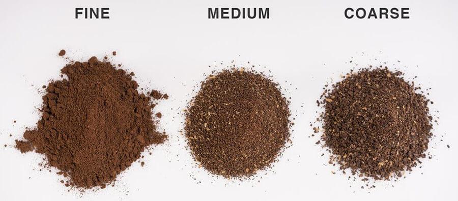 kích cỡ bột cà phê